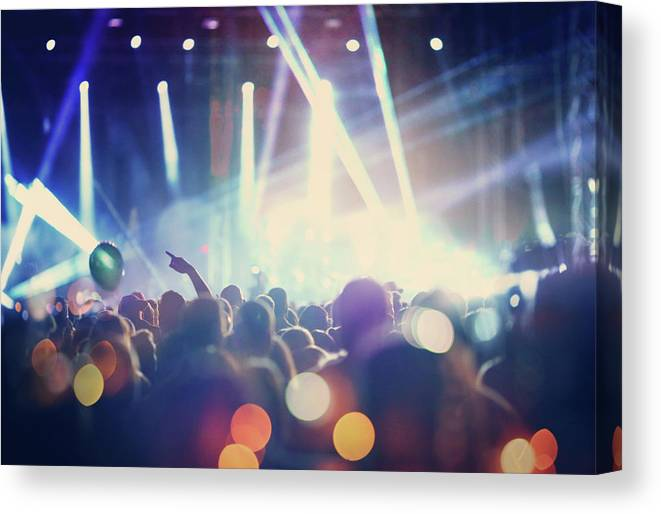 Event Canvas Print featuring the photograph Rock Concert by Gilaxia