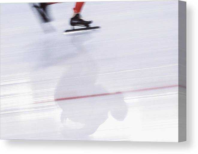 People Canvas Print featuring the photograph Speed Skating, Action Blur by David Madison