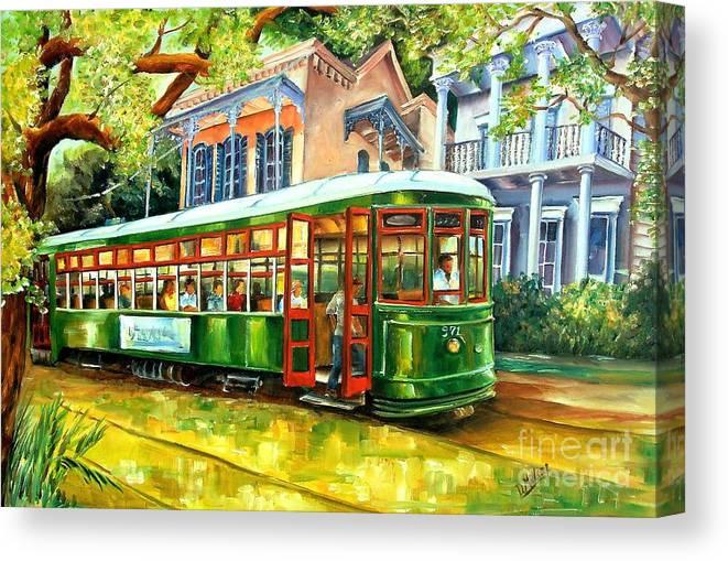 Streetcar On St Charles Avenue Canvas Print Canvas Art By Diane Millsap