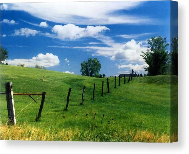 Summer Landscape Canvas Print featuring the photograph Summer Landscape by Steve Karol