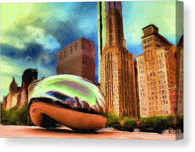 Cloudgate Canvas Print featuring the painting The Bean - 20 by Ely Arsha
