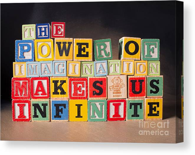 The Power Of Imagination Makes Us Infinite Canvas Print featuring the photograph The Power of Imagination Makes us Infinite by Art Whitton
