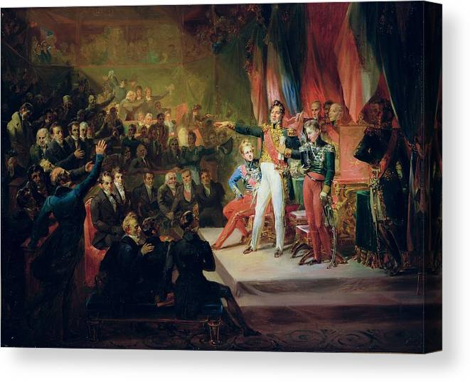 The Swearing In Of Louis Philippe 1773 1850 9th August 1830 Oil On Canvas Canvas Print Canvas Art By Felix Auvray