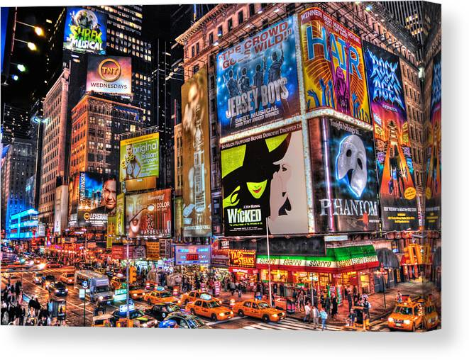 Manhattan Canvas Print featuring the photograph Times Square by Randy Aveille