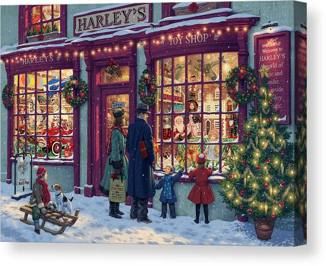 Steve Read Canvas Print featuring the photograph Toy Shop Variant 2 by MGL Meiklejohn Graphics Licensing
