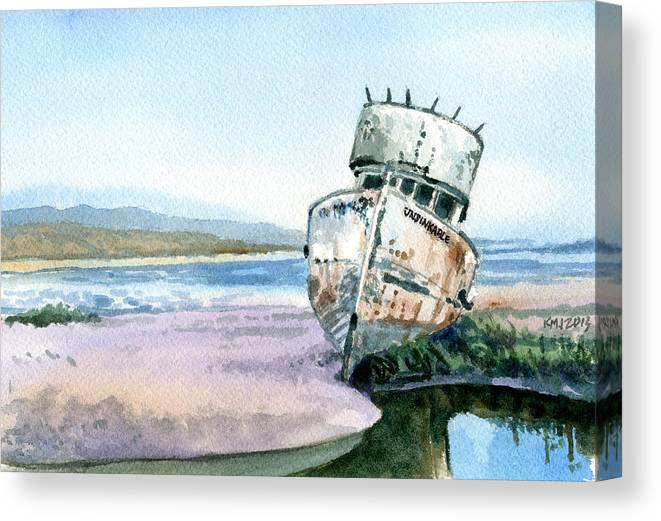 Boats Canvas Print featuring the painting Unsinkable by Ken Meyer jr
