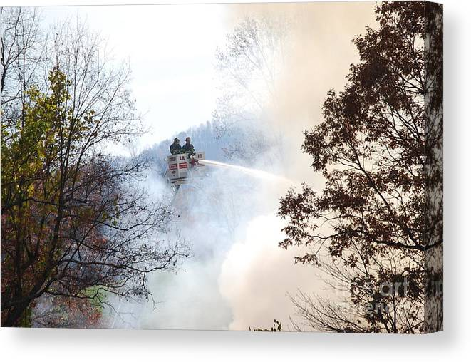 Fire Canvas Print featuring the photograph Up In Smoke by Eric Liller