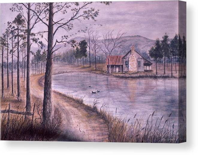 Morning Canvas Print featuring the painting South Carolina Morning by Ben Kiger