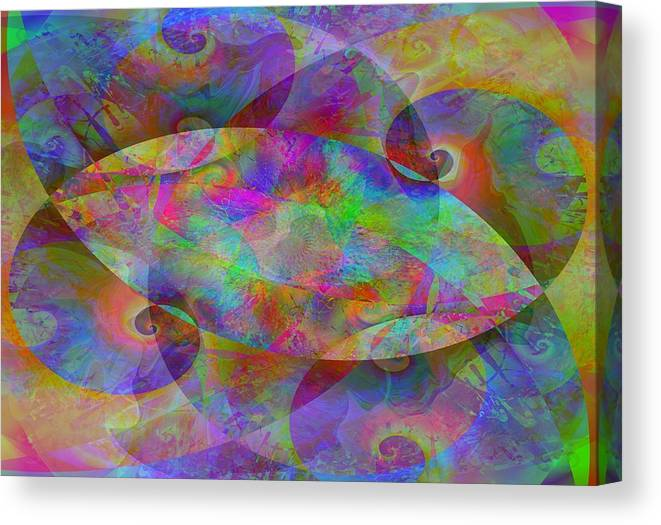 Collage Canvas Print featuring the digital art 2012-10-26-10j by Peter Shor