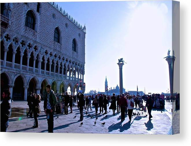 Doge's Palace Canvas Print featuring the photograph Doge's Palace by Eric Tressler