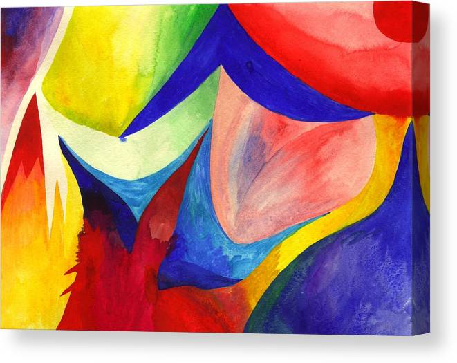 Watercolor Canvas Print featuring the painting Exploring by Peter Shor