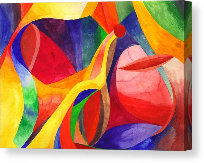 Bright Canvas Print featuring the painting Seeking by Peter Shor