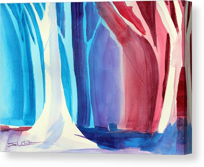 Winter Impressionism Canvas Print featuring the painting Winter Hike. by Josh Chilton