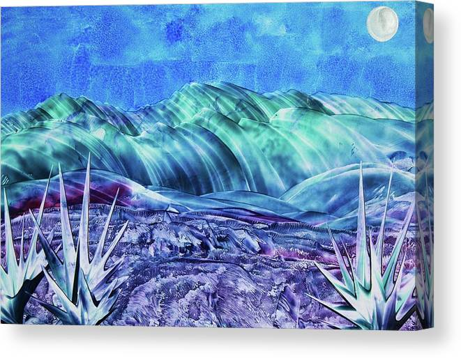 Encaustic Canvas Print featuring the painting Gallup by Melinda Etzold