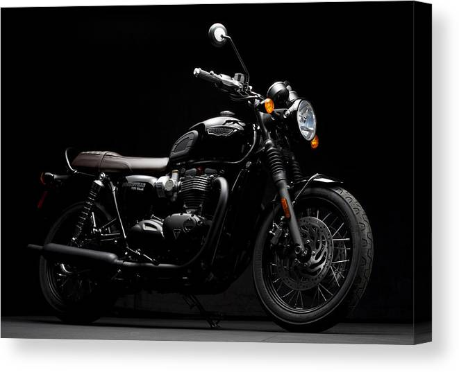 Triumph Canvas Print featuring the photograph 2016 Triumph Bonneville T120 by Keith May