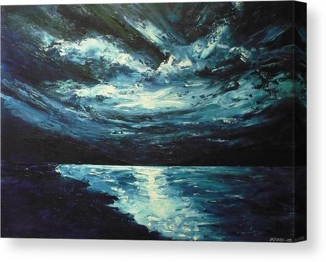 Landscape Canvas Print featuring the painting A Milky Way by Ericka Herazo