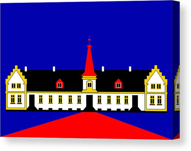 Manor House Canvas Print featuring the digital art Agersboel Manor House by Asbjorn Lonvig