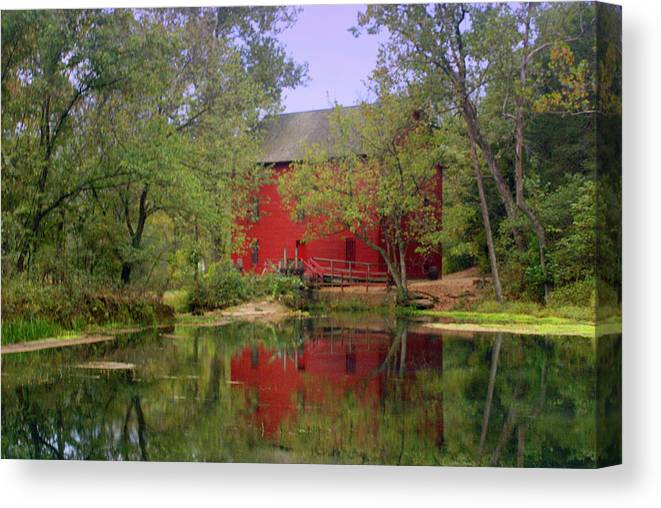 Alley Spring Canvas Print featuring the photograph Allsy Sprng Mill 2 by Marty Koch