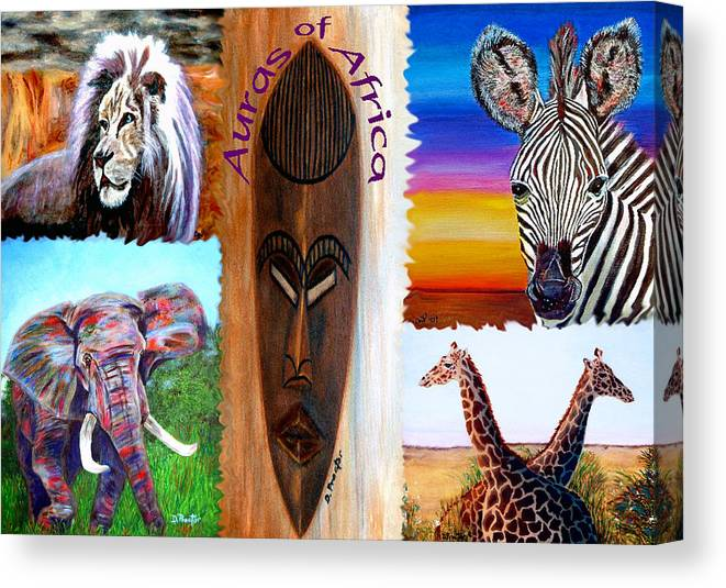 Africa Canvas Print featuring the painting Auras of Africa by Donna Proctor
