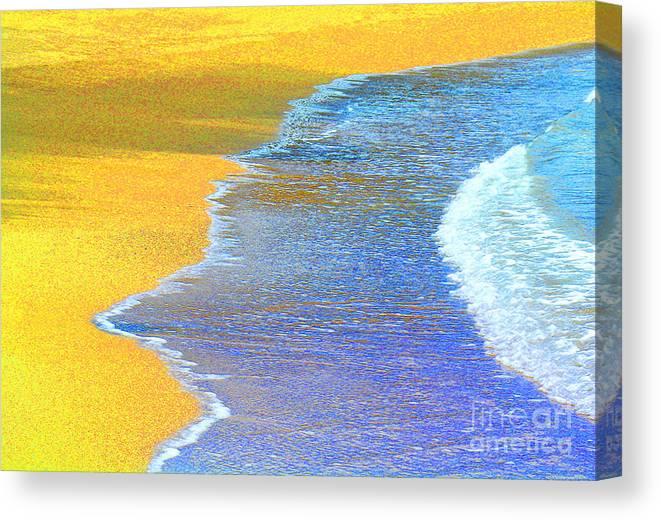 Dixie Maru Beach Canvas Print featuring the photograph Beach Rhythm by James Temple