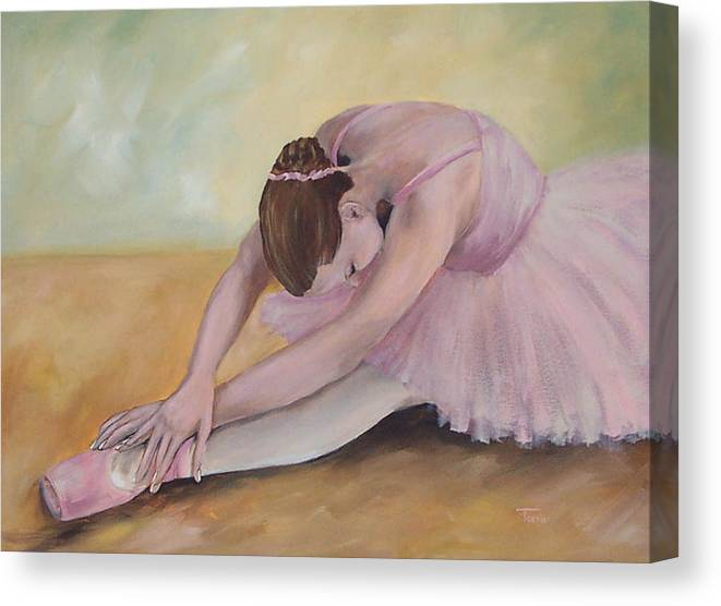 Dancer Canvas Print featuring the painting Before The Ballet by Torrie Smiley