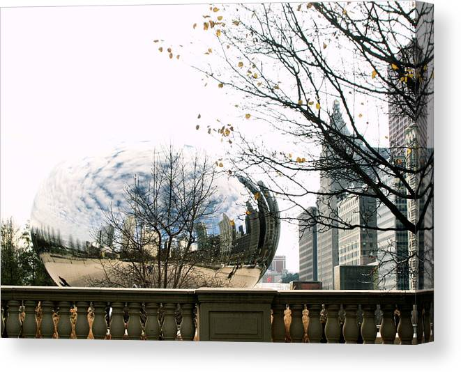 Chicago Canvas Print featuring the photograph Cloud Gate - 1 by Ely Arsha