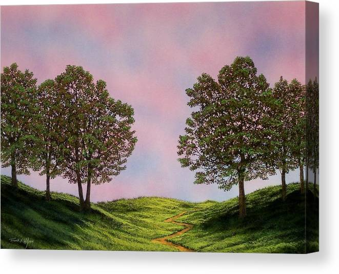 Landscape Canvas Print featuring the painting Colors Of Dawn by Frank Wilson