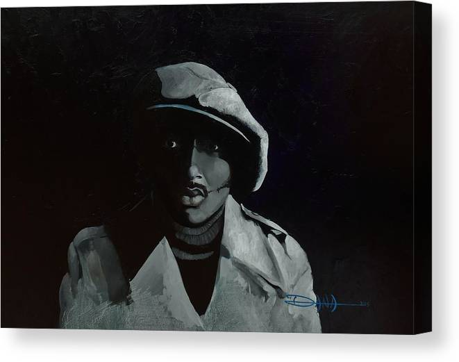 Portrait Canvas Print featuring the painting Donnie Hathaway by Dana Newman