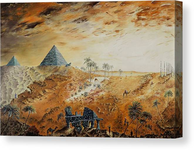 Egypt Canvas Print featuring the painting Eternity by Richard Barham