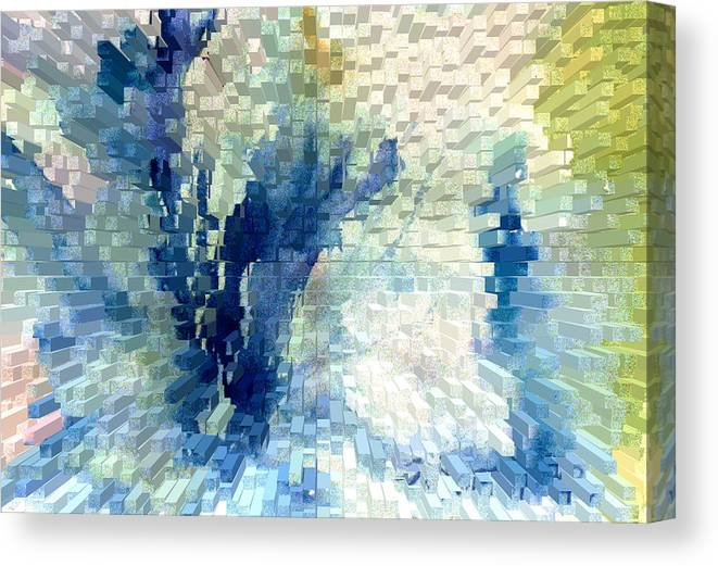 Abstract Canvas Print featuring the painting Extrude by Steve Karol