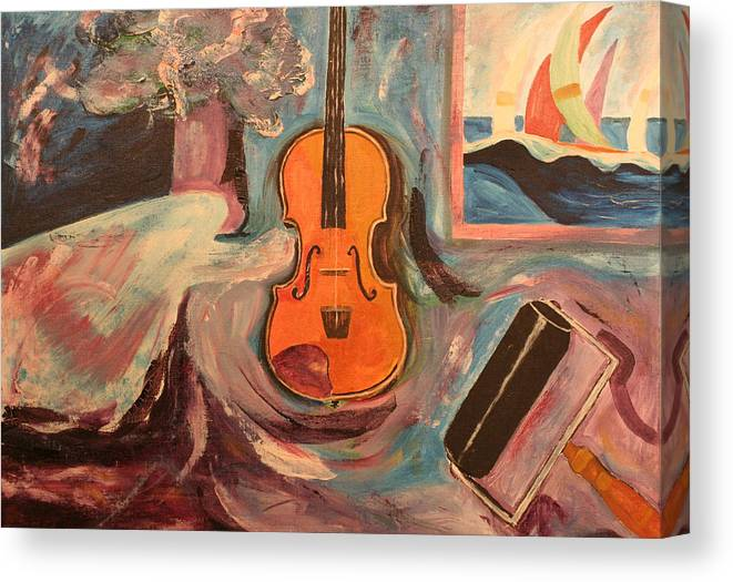 Canvas Print featuring the painting Fiddle by Biagio Civale