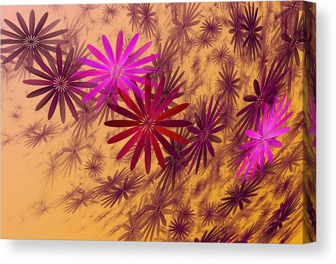 Fantasy Canvas Print featuring the digital art Floating Floral - 005 by David Lane
