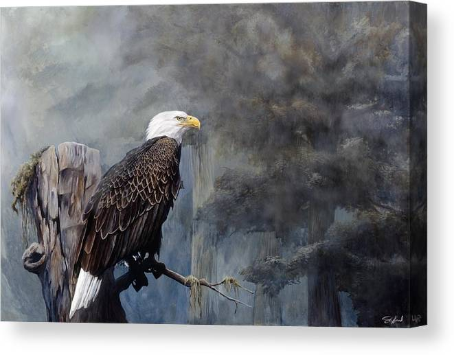 Eagle Art Canvas Print featuring the painting Freedom Haze by Steve Goad