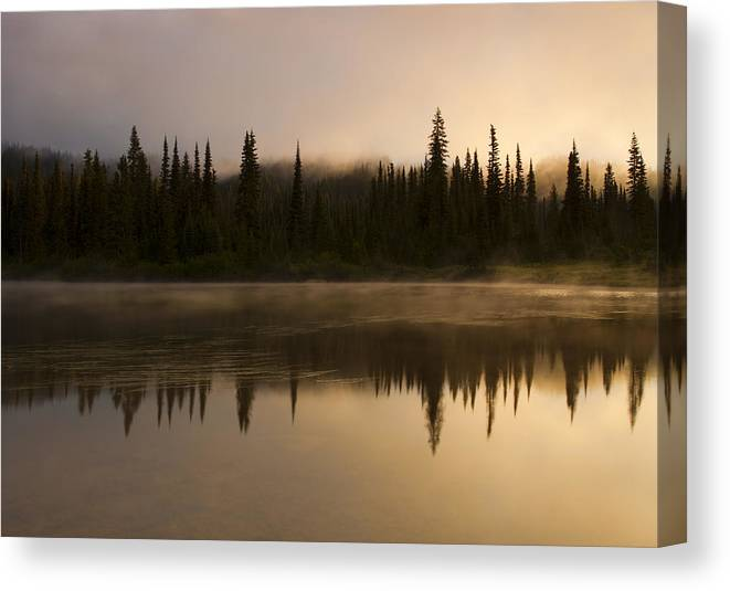 Lake Canvas Print featuring the photograph Golden Dawn by Mike Dawson