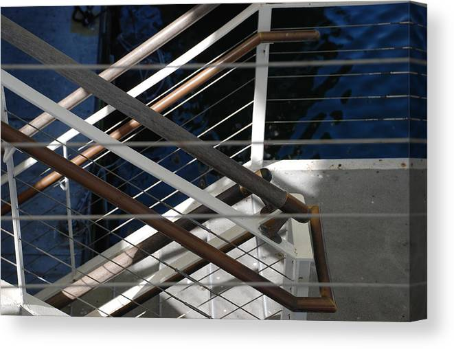 Water Canvas Print featuring the photograph Hand Rails by Rob Hans