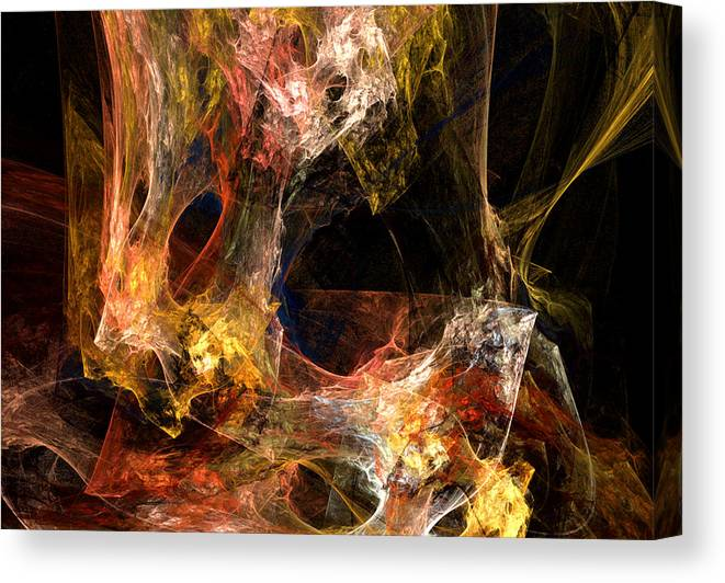 Abstract Canvas Print featuring the digital art Holes by Ruth Palmer