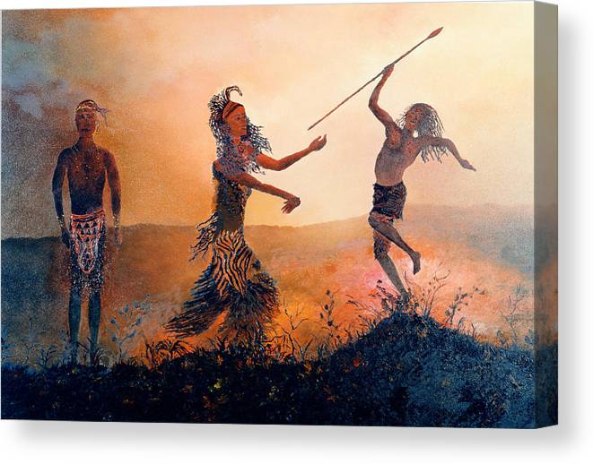 Africa Canvas Print featuring the painting Home Comeing by Richard Barham