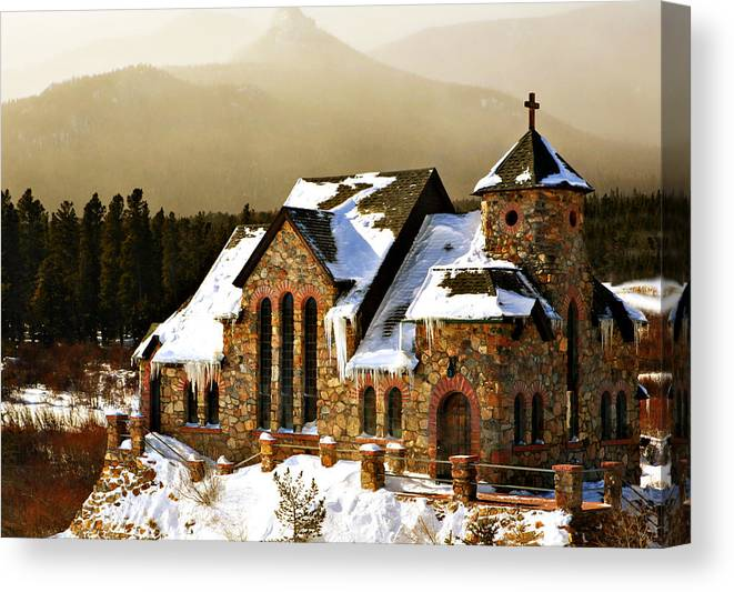 Americana Canvas Print featuring the photograph Icicles by Marilyn Hunt