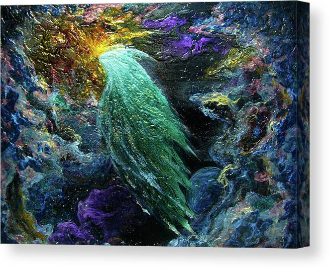 Universe Canvas Print featuring the painting In The Beginning by Pam Ellis