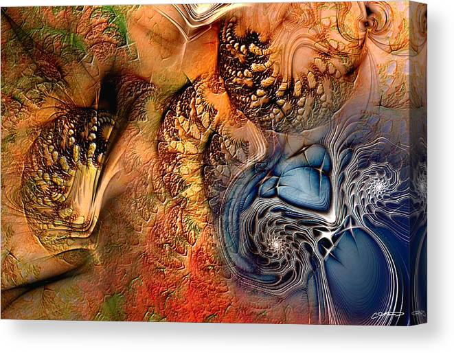 Abstract Canvas Print featuring the digital art Incident At Neshabur by Casey Kotas