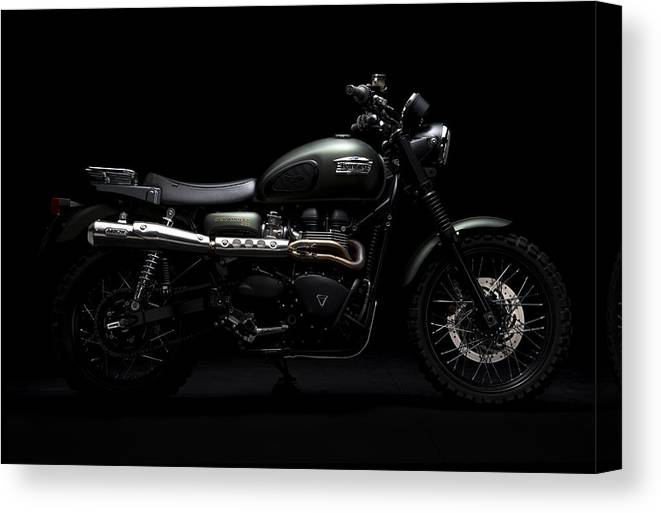 Triumph Canvas Print featuring the photograph Jurassic Scrambler by Keith May