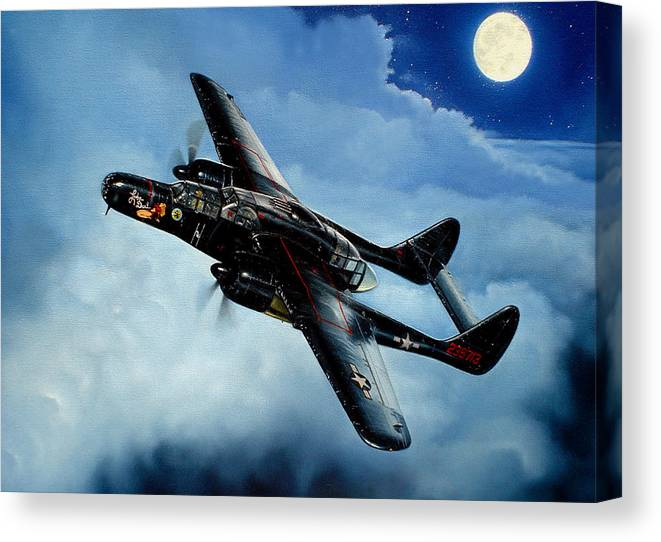 Military Canvas Print featuring the painting Lady in the Dark by Marc Stewart