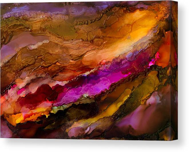 Abstract Canvas Print featuring the painting Live Your Passion - C - by Sandy Sandy