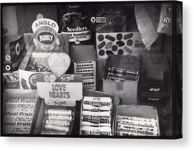 Candy Canvas Print featuring the photograph Monochrome Candy by Charles Stuart
