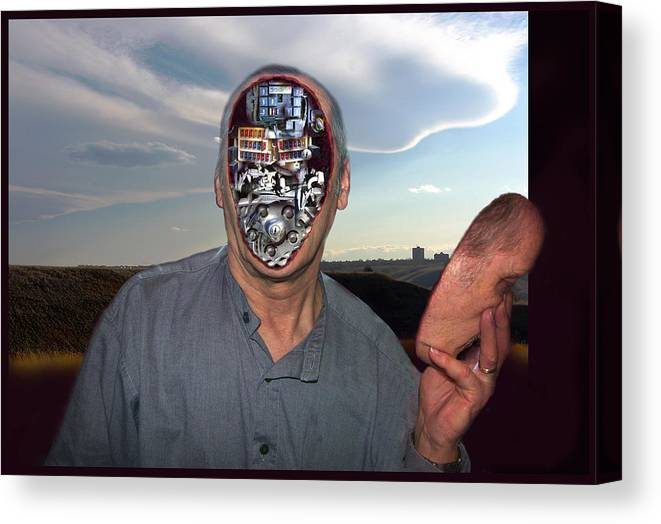 Surrealism Canvas Print featuring the digital art Mr. Robot-Otto by Otto Rapp