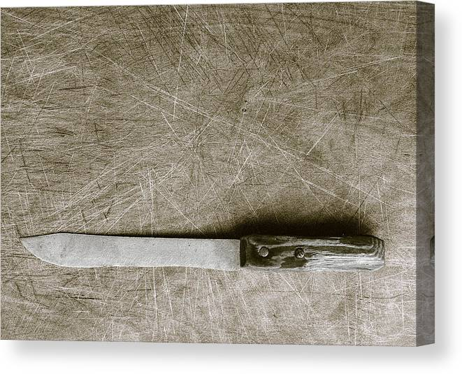 Found Object Canvas Print featuring the digital art My Mother's Knife by Robert Sako