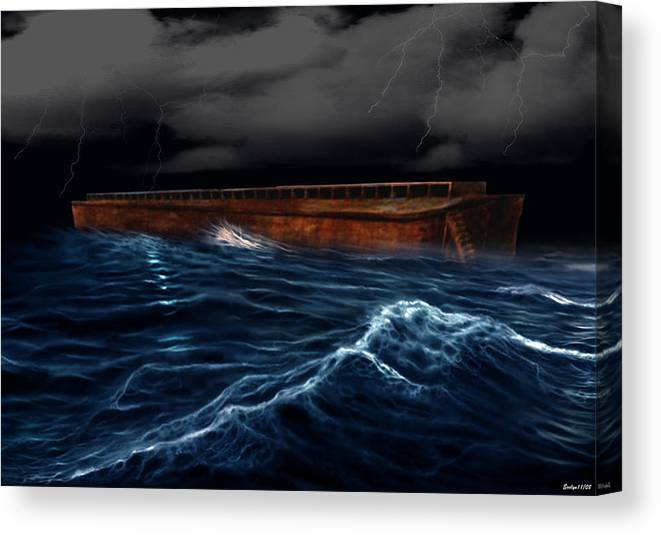 Ship Canvas Print featuring the digital art Noah Ark by Evelyn Patrick