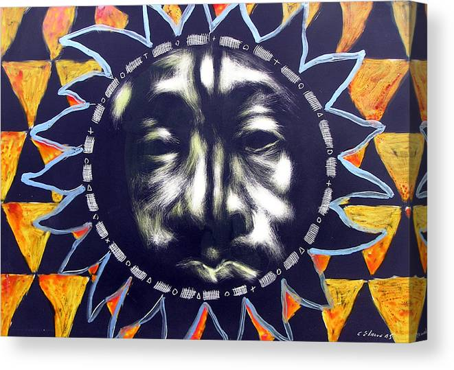 Canvas Print featuring the mixed media Oakland Sunshine by Chester Elmore