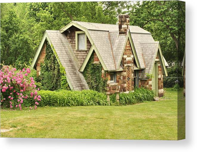 Cottage Canvas Print featuring the photograph Old Cottage by Bj Hodges
