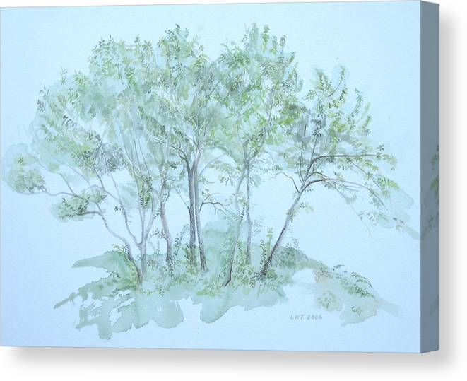 Trees Canvas Print featuring the painting Outer Banks by Leah Tomaino